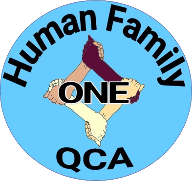 One Human Family QCA logo